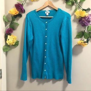 Lilly Pulitzer Blue Knit Button Fastening Cardigan